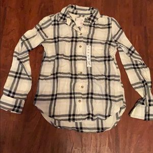 NWT plaid flannel